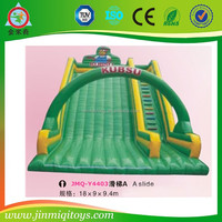 Castle Type and 0.55mm PVC tarpaulin Material giant inflatable water slide for sale
