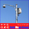 16m height 7mm wall thickness traffic and telescopic cctv camera mast monitor pole with brackets, galvanized Q235 steel pole