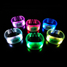 Customized Logo LED Wristband Glow Bracelet for Party