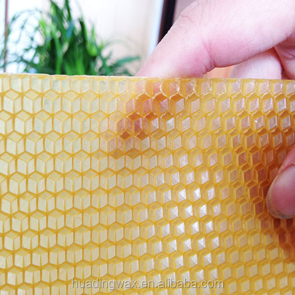 Changge factory export yellow beeswax foundation sheets for beekeeping