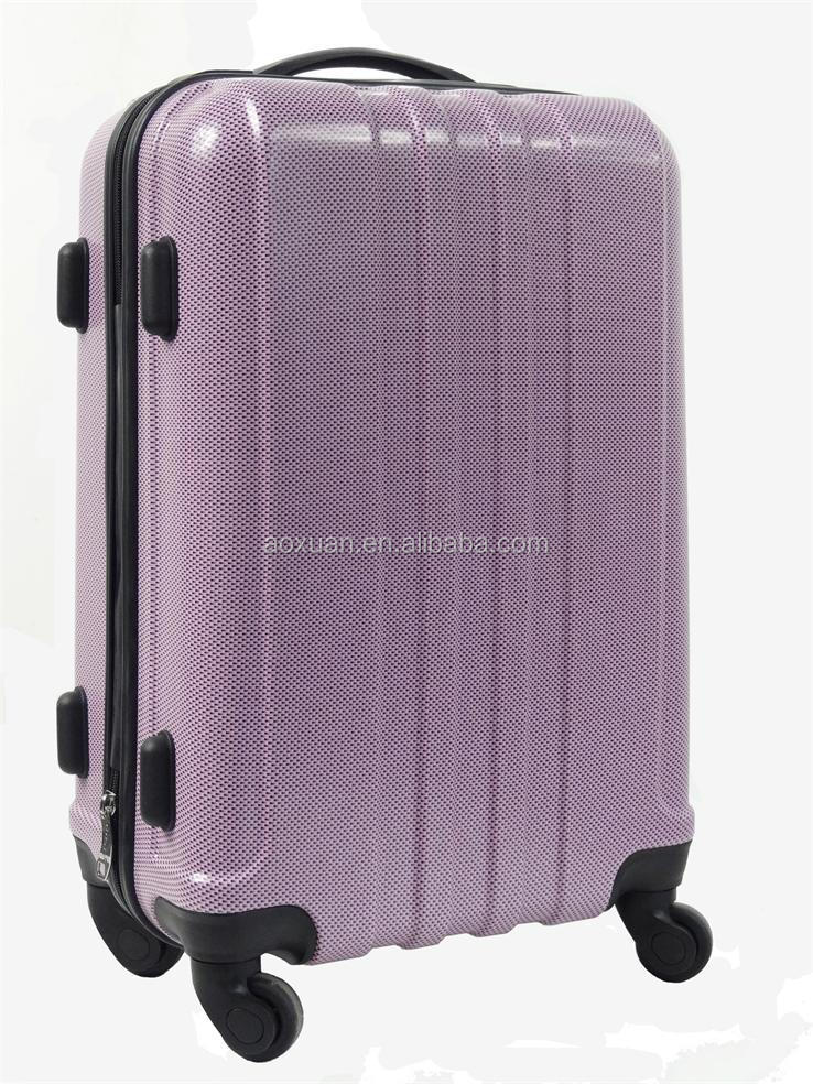 purple color Hard case luggage bags/travel trolley luggage bag/beautiful abs luggage