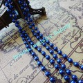 Blue color Metal ball Chain 2.4mm with clasp