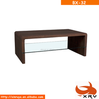 tempered glass cheap living wholesale modern office mdf wooden coffee table