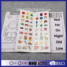 pre-school sticker activity book printing