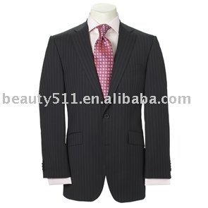 Two Button Plain Navy Single Breasted Mens Suit mr-4