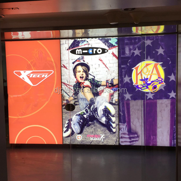 china advertising aluminium wall mounted fabric light box display