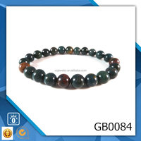Indian Bloodstone Stretch Bracelet Smooth 8mm Round Gemstone Beads Handmade Wholesale Girls' new designer bracelet