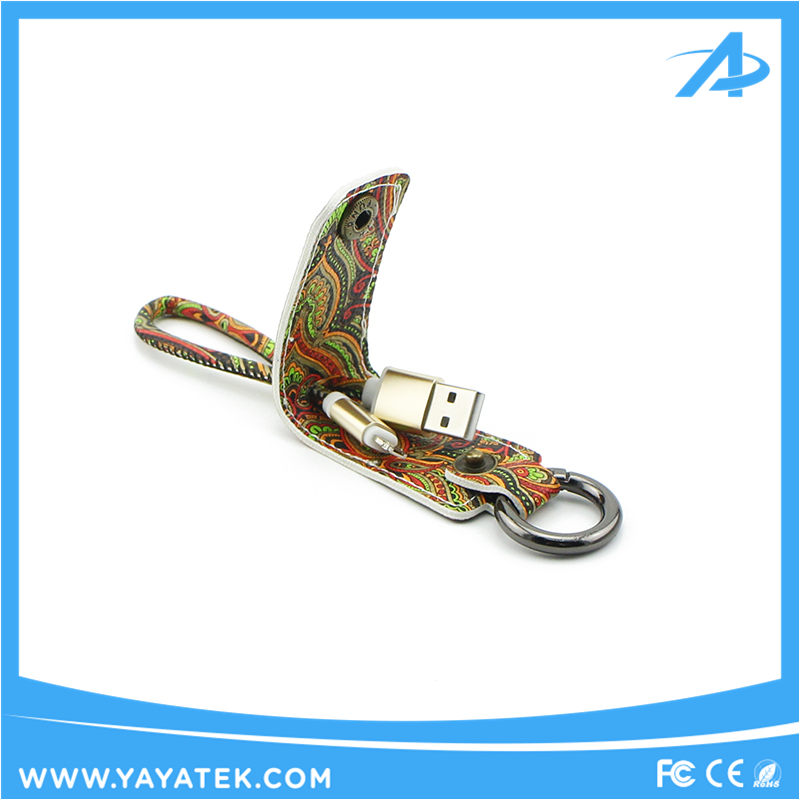 Best gift fashionable design 2 in 1 double sided keychain usb cable