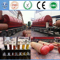 plastic PP PE ABS bag pyrolysis to fuel oil plant