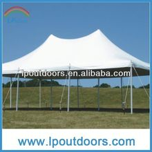 Practical pole tent--travel trailer awning tent