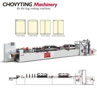 CWZD-400B+FS compound four sides sealed bag making machine
