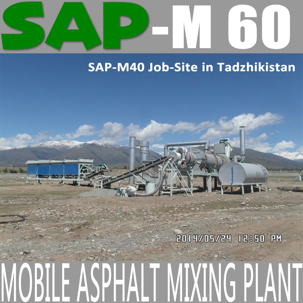 SAP-M60 Mobile Asphalt Mixing Plant