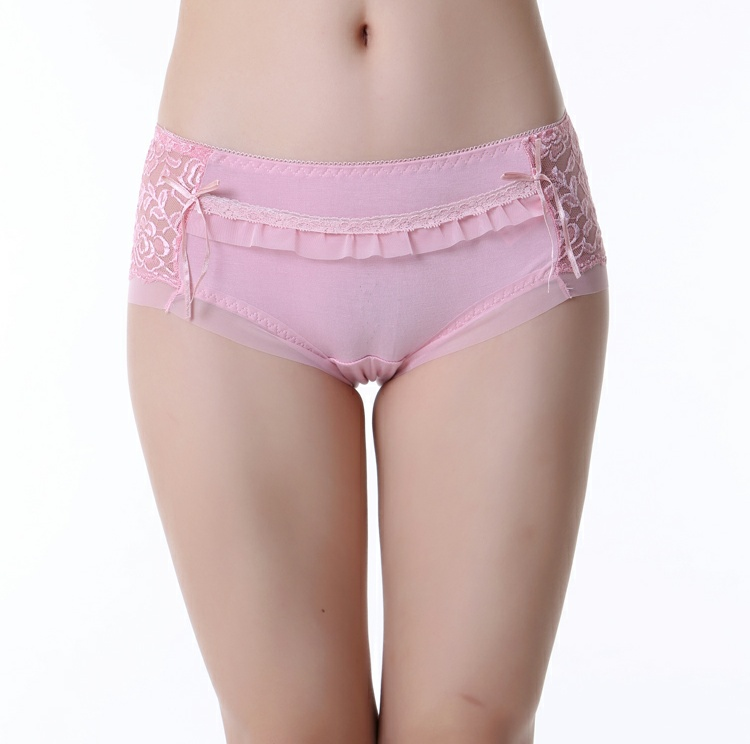Lovely bow design young teens floral embroidery girls in panties