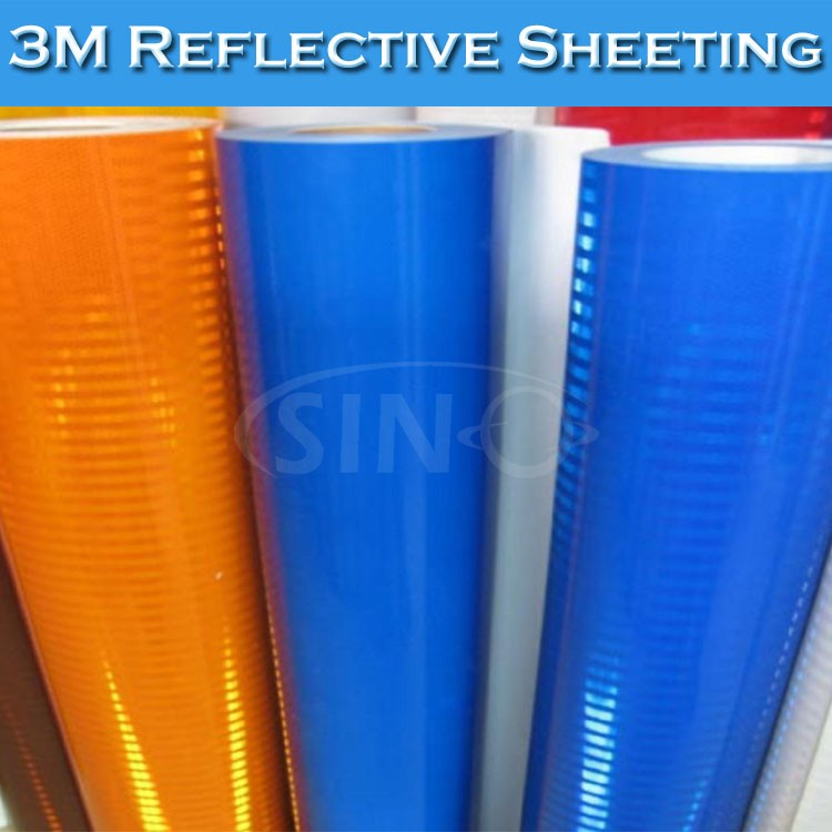 SINO CAR STICKERS 1.22x45.7m 4* 150FT Diamond 3m reflector sticker for car