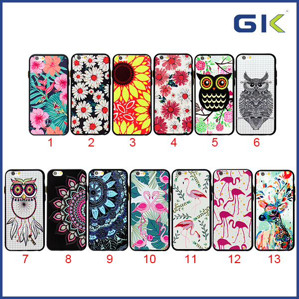 [GGIT] New 1.2MM Electroplating Button Painting Black TPU Cover For IPhone 6 Matte Cell Phone Case