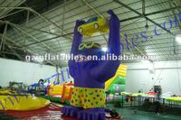 (Qi Ling) inflatable gorilla with car model