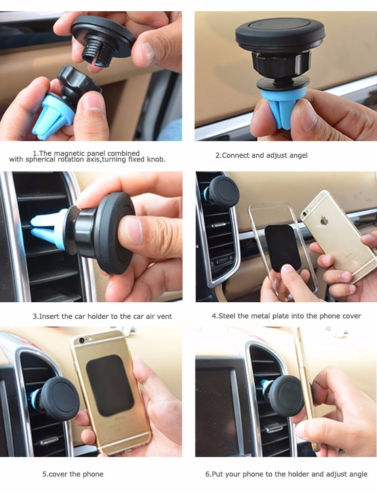 360 degree rotating universal air vent mobile phone mount car funny cell phone holder