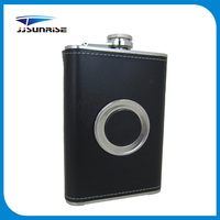 8oz Leather Metal Hip Flask