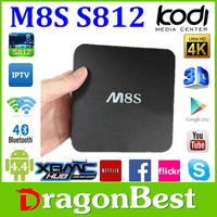 M8S Android Smart TV Box Amlogic S812 Chip 4K 2G/8G XBMC Dual band wifi Full HD Android 4.4 Set top box M8s