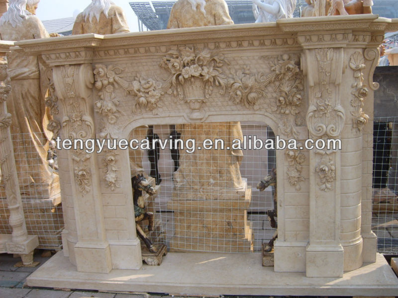 ompare Quyang natural white marble gas fireplace