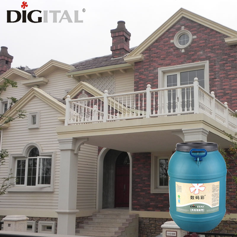 Odorless strong adhesion stone texture wall paint