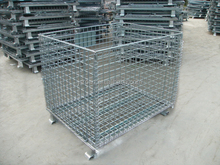 ROAD Folding Wire Mesh Cage Storage Foldable Steel Container