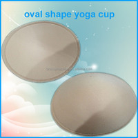 Oval Shaped Foam Pads for Yoga or Sports Bra