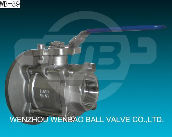 3PC Stainless Steel flush tank mounted ball valves-direct mount SS304