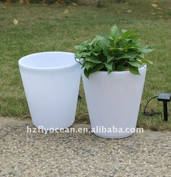 solar light garden pot with pp material fo 9536 buy plant pot with lighting garden plant pot. Black Bedroom Furniture Sets. Home Design Ideas