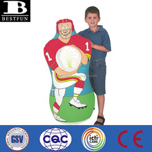 inflatable football player catch game football throwing games football target