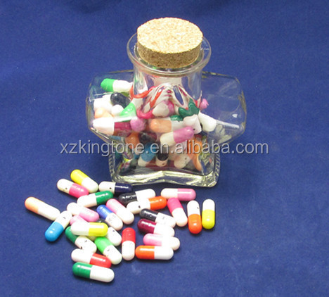 Wedding use star shape glass jar Love capsule
