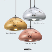 Hot Sell Replica Mirror Ball Electroplate Chorme Glass Pendant Lamp