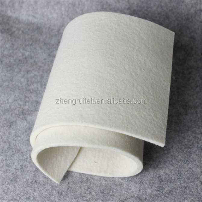 1mm 2mm 3mm white soft merino pressed wool felt for industrial