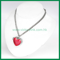 Hinge Heart Charms Elegant Necklace