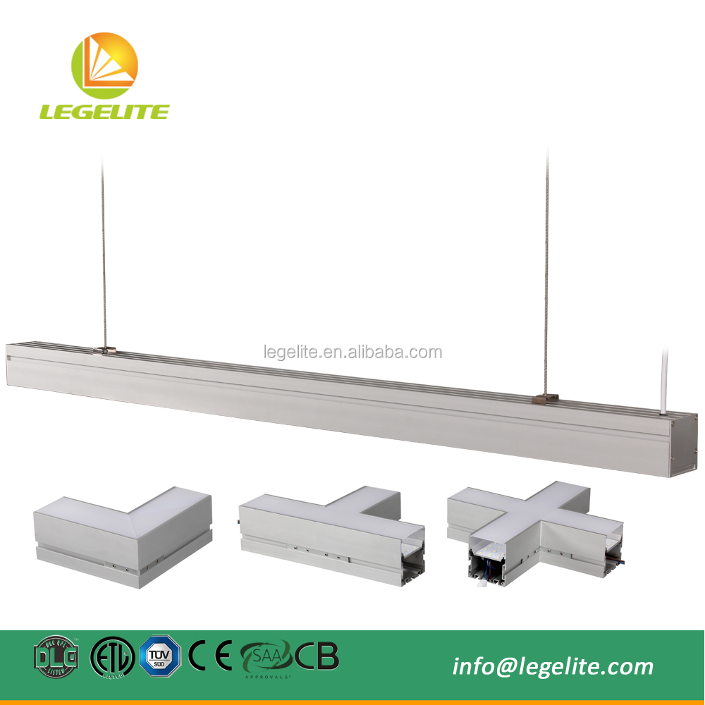 2ft 4ft 5ft Suspension Continuous Row Linkable Commercial Linear LED Lighting