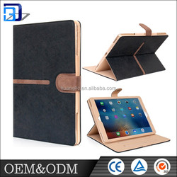 Buckle suede tan design with 360 degree rotating design 9.7 inch PU leather case for Apple Ipad pro