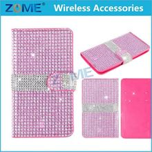 Mobile Phone Bags Diamond Case New Crystal Colorful Wallet Stand For Lg K7 Case Cover