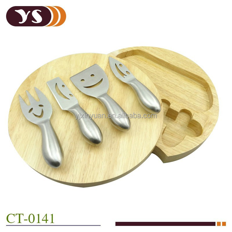 2014 Hot Sell Rubber Wood Cheese Board
