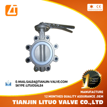 different standard ptfe lug type flange butterfly valve