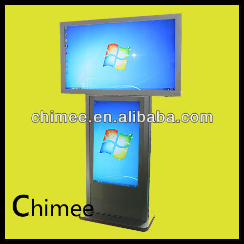 55 Inch three sided indoor lcd digital scale computer equipment