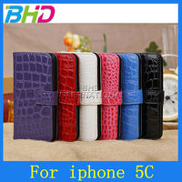 alligator pattern for apple iphone 5C purse leather case