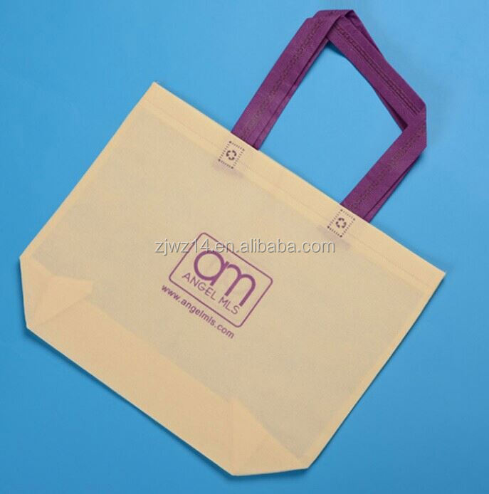 cheap fashion foldable shopping tote bag/ yellow non woven shopping bags/ non woven bag for hotels