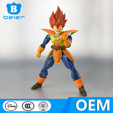 China OEM factory, custom 6 inch action movable dragon ball z figure for kid, action figure custom