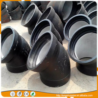 low price taper, tee, flanged, socked, elbow and cross ductile cast iron pipe fittings with good price
