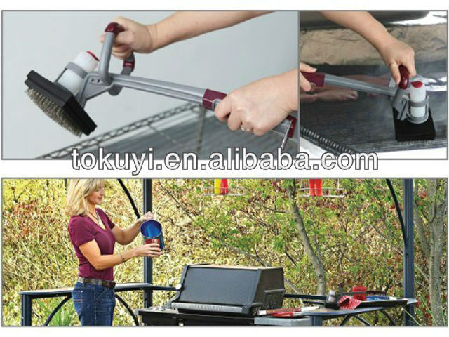 Best bbq steamed grill cleaning brush steam grill brush for Motorized grill brush with steam cleaning power