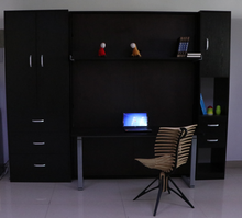 2019 Modern Murphy Bed Space Save Wall Bed with Table and Bookcase