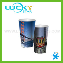 Creative plastic 3d lenticular PP cups with logo ptinting 500ml cups glass factory in china