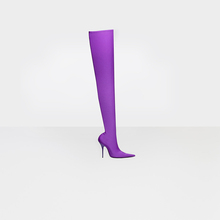Special Shape Purple Relvet Long Boots Fashion