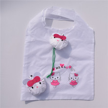 Recycled folding cartoon design polyester shopping bag
