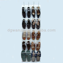 china fatory cheap white plastic pocket hanging wall organizer for shoe wholesale